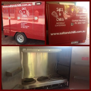 mobile catering kitchen salt and chilli