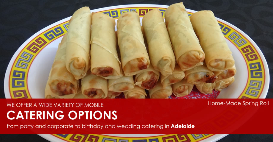 Home-Made Spring Rolls by Salt & Chilli Catering